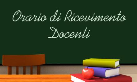 Orario di ricevimento docenti scuola Secondaria