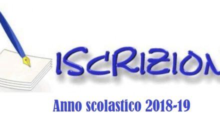 ISCRIZIONI 2018-19