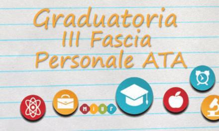 Avviso di sospensione pubblicazione graduatorie istituto III-fascia-personale Ata