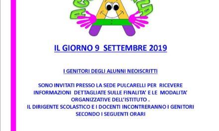 ACCOGLIENZA NUOVI ISCRITTI 2019/20
