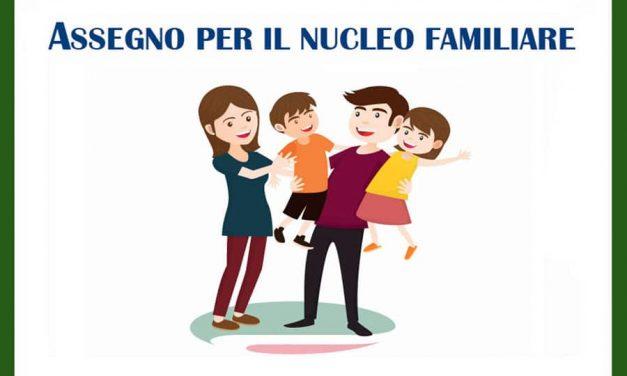 MODELLO DI DOMANDA ASSEGNO PER IL NUCLEO FAMILIARE