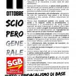 Comparto Istruzione e Ricerca – Sezione Scuola. Azione di sciopero prevista per il 27 settembre 2021